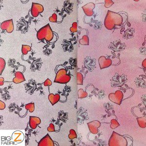Desert Rose Foil Spandex Decorative Fabric