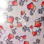 Desert Rose Foil Spandex Decorative Fabric Silver