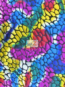 Rainbow Tie Dye Glimmer Foil Spandex Fabric