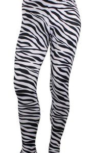 Fashion Zebra Spandex Lycra Leggings