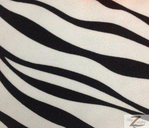 Zebra Print Spandex Fabric