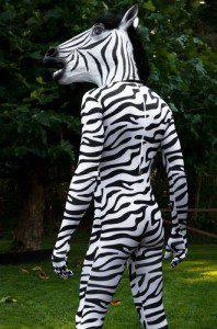 Zebra Spandex Fabric Halloween Costume