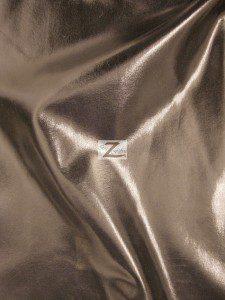 Brown Metallic Foil Spandex Fabric