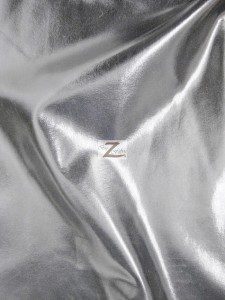 Charcoal Metallic Foil Spandex Fabric