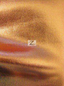 Copper Metallic Foil Spandex Fabric