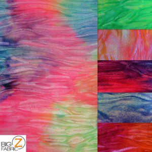 Crushed Tie Dye Velvet Spandex Fabric