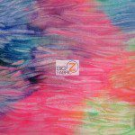 Crushed Tie Dye Velvet Spandex Fabric Mix
