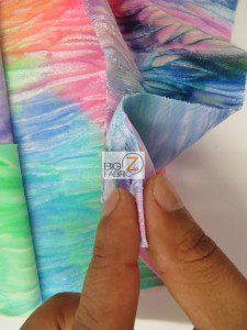 Crushed Tie Dye Velvet Spandex Fabric Thickness