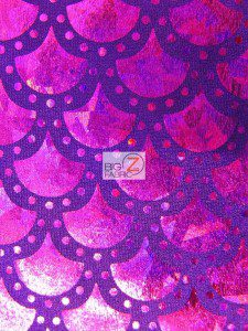 Scale Dot Foil Nylon Spandex Fabric Purple Magenta