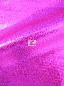 Fuchsia Metallic Foil Spandex Fabric