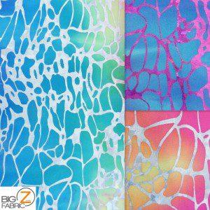 Tie Dye Spider Web Spandex Fabric
