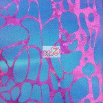 Tie Dye Spider Web Spandex Fabric Multi Purple