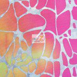 Tie Dye Spider Web Spandex Fabric Multi Yellow