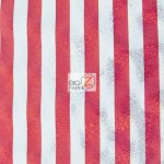 American Holomist Stripes Spandex Fabric Red