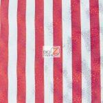 American Holomist Stripes Spandex Fabric Red