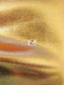 Gold Metallic Foil Spandex Fabric