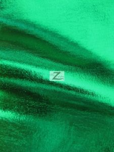 Green Metallic Foil Spandex Fabric