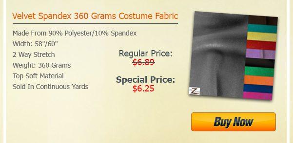 Velvet Velour Spandex Fabric Steal Deal