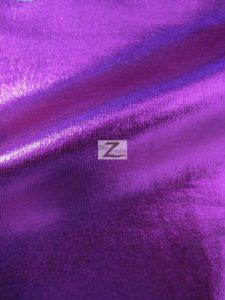 Purple Metallic Foil Spandex Fabric
