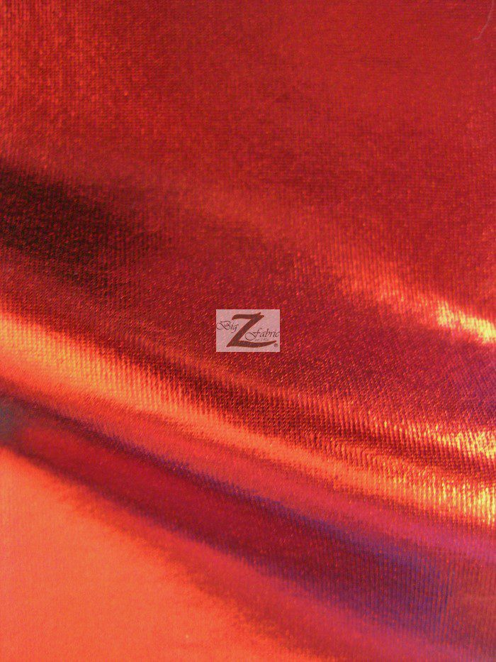 Red Metallic Foil Spandex Fabric
