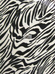 White Zebra Velvet Poly Spandex Fabric