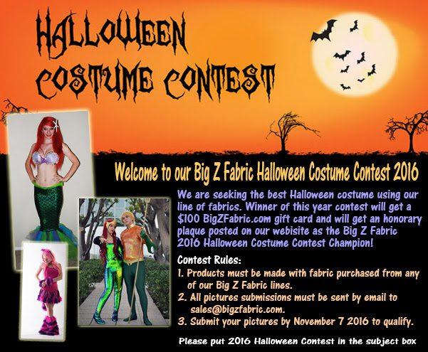 Big Z Fabric Halloween Spandex Costume Contest