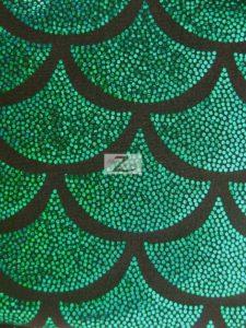Scale Foil Nylon Spandex Fabric Kelly Green