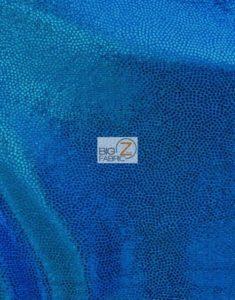Blue Mist Nylon Matrix Foil Spandex Fabric