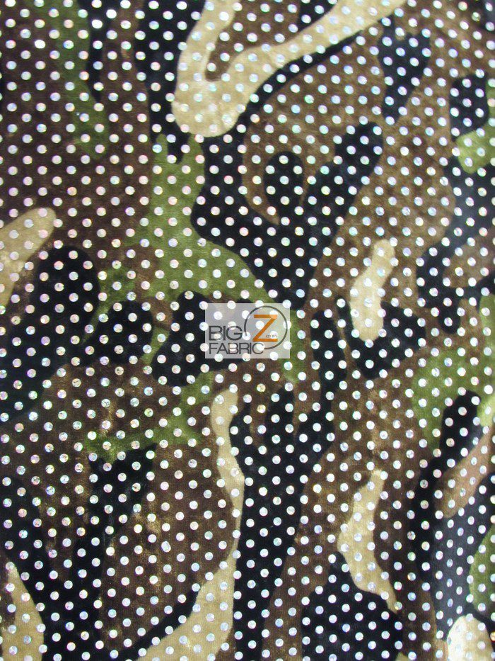 JLO Army Diva Camouflage Spandex Fabric