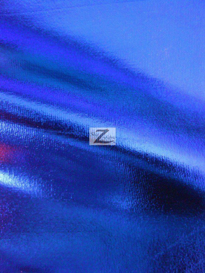 Royal Blue Metallic Foil Spandex Fabric