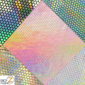 Holographic Dotted 70's Spandex Fabric