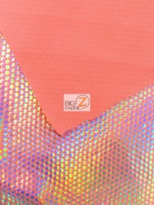 Holographic Dotted 70's Spandex Fabric Backing