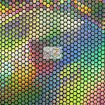 Holographic Dotted 70's Spandex Fabric Holo Black