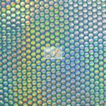 Holographic Dotted 70's Spandex Fabric Holo Turquoise