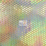 Holographic Dotted 70's Spandex Fabric Holo Yellow