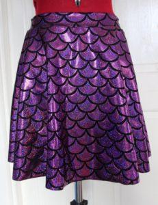 Mermaid Scale Spandex Skirt