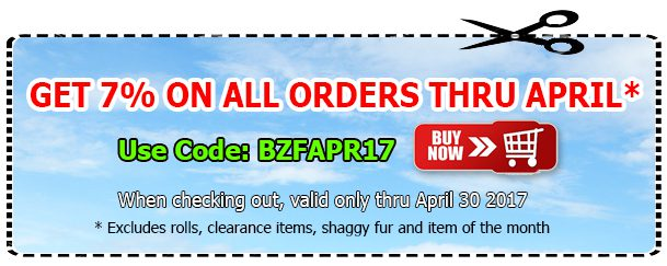 Big Z Fabric April Spandex Coupon