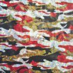 Holographic Foil Camo Spandex Fabric Dance