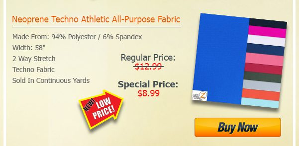 SALE Techno Athletic All-Purpose Fabric SALE