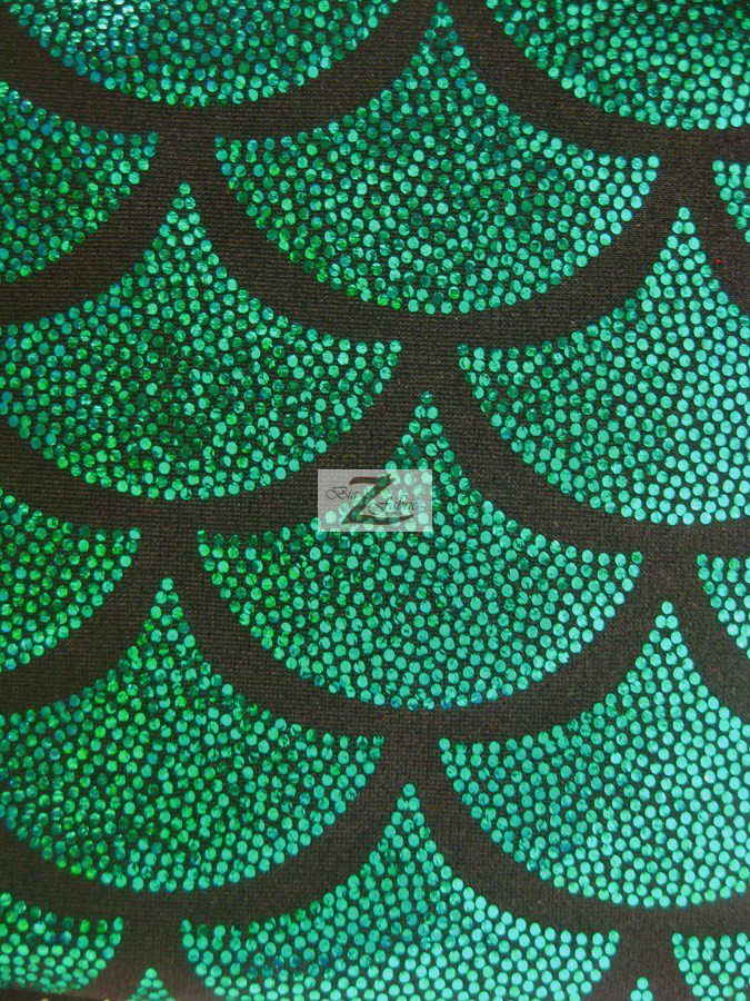 Scale Nylon Spandex Fabric Kelly Green