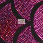 2 Tone Holographic Scale Spandex Fabric Fuchsia