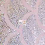 2 Tone Holographic Scale Spandex Fabric Pink