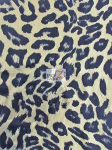 Wild Leopard Animal Spandex Fabric