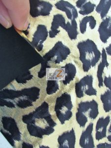 Wild Leopard Animal Spandex Fabric Backing