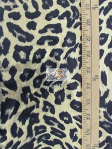 Wild Leopard Animal Spandex Fabric Measurement
