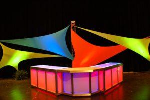 Neon Spandex Decorative Sails