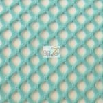 Stretch Netting Poly Spandex Fabric Baby Blue