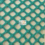 Stretch Netting Poly Spandex Fabric Teal