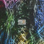 Illustrious Scribbles Holographic Spandex Fabric Rainbow