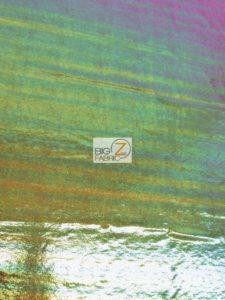 Rainbow Mist Holographic Spandex Fabric Burgundy